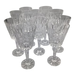 Vintage Waterford Lismore Crystal Water Goblets - Set of 12 For Sale