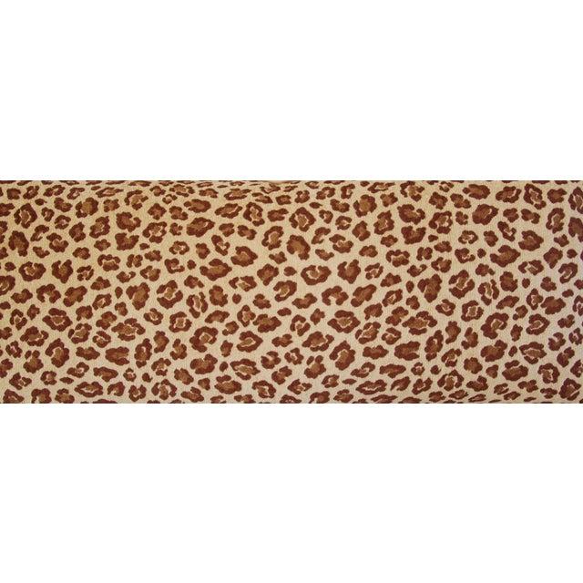 Leopard Velvet Lumbar Body Pillow - Image 5 of 8
