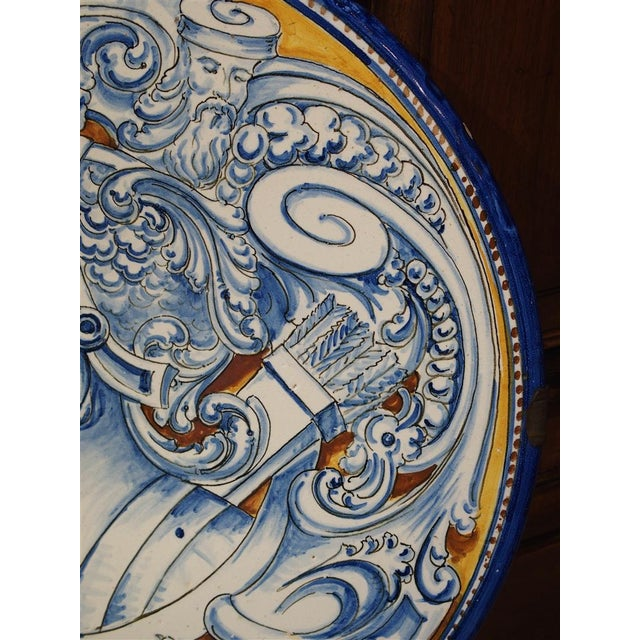 1910s Antique Renaissance Style Platter from Spain For Sale - Image 5 of 10