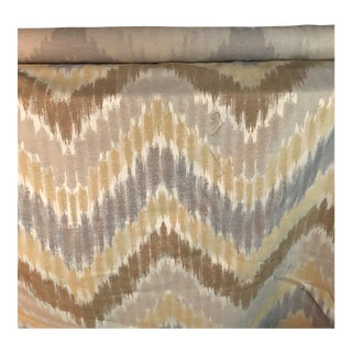 Gray, Golden & Brown Fabric - 1.5 Yards