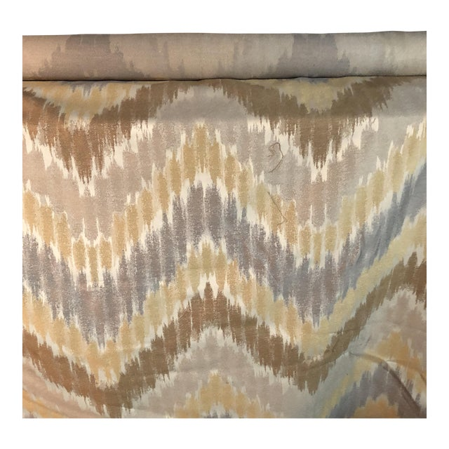 Gray, Golden & Brown Fabric - 1.5 Yards For Sale