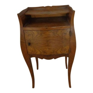 Burl Wood Bombe Chest French Style For Sale