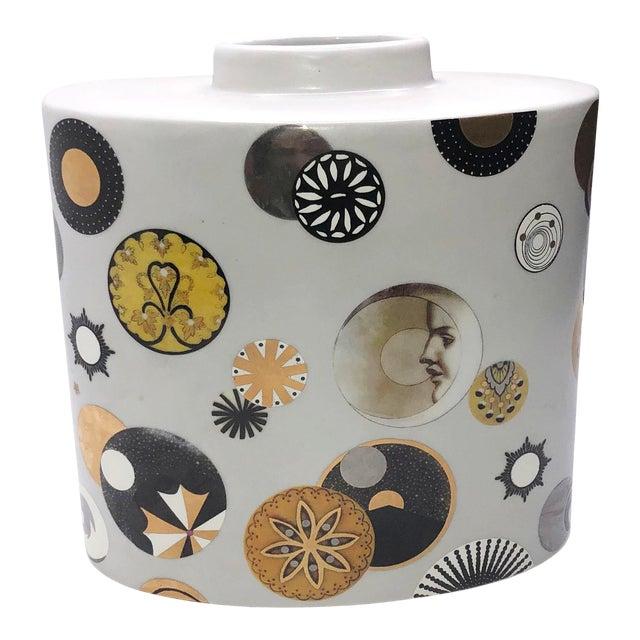 Mid Century French Porcelain Vase by Fabienne Jouvin For Sale