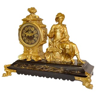 "Antique Ansonia ""Rembrandt"" Statue Clock For Sale"