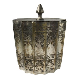 Silver Plated Trinket Box Scalloped Edge For Sale
