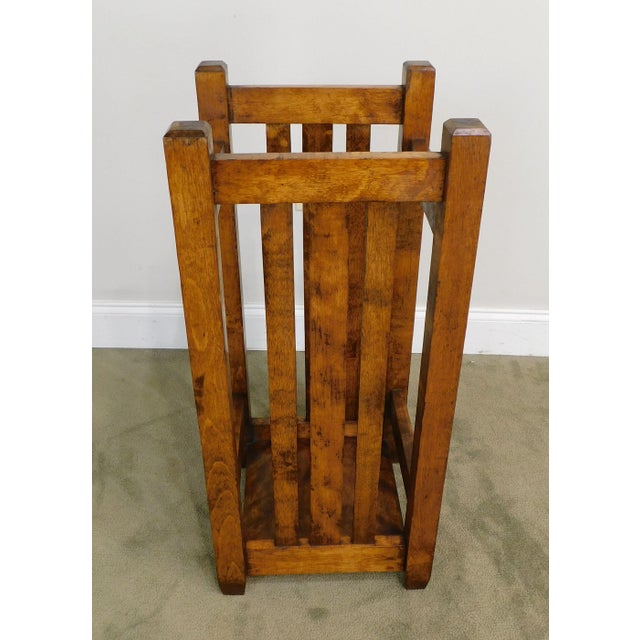 1910s Mission Style Antique Umbrella Stand For Sale - Image 5 of 13