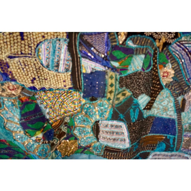1960s 1960s Folk Art Hand Crafted Tapestry/Wall Hanging For Sale - Image 5 of 8