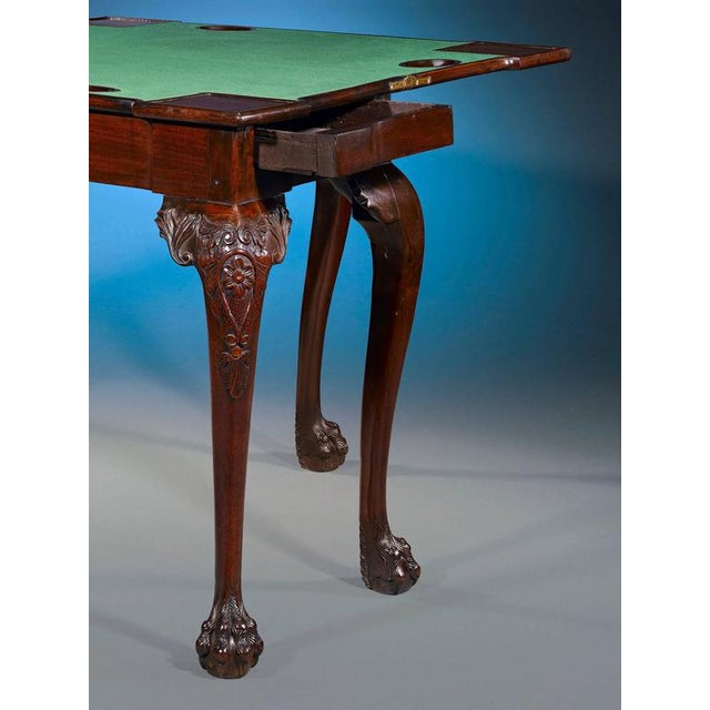 18th Century Mahogany Irish Games Table For Sale - Image 4 of 6