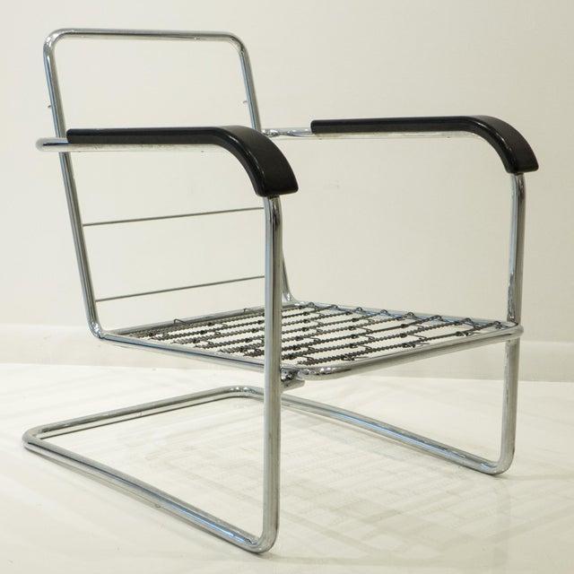 Werner Max Moser Tubular Steel Armchair for Embru Werke - Image 3 of 11