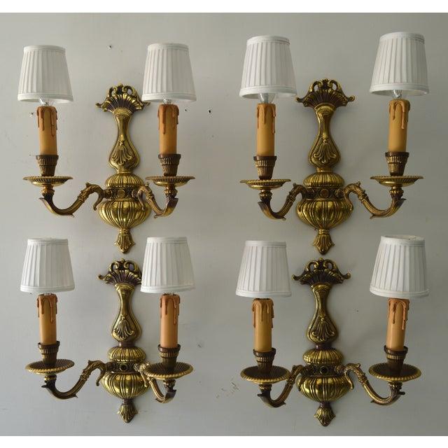 French Boudoir Sconces - Set of 4 - Image 2 of 8
