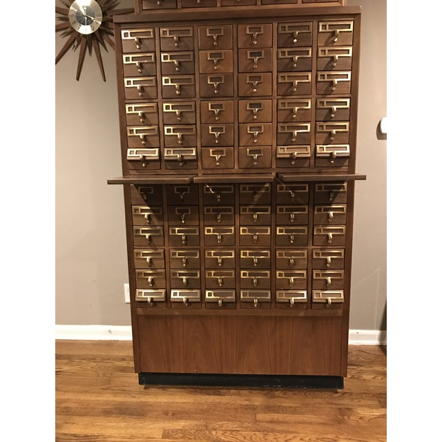 Vintage Hand Crafted 72-Drawer Card Catalog - Image 2 of 5