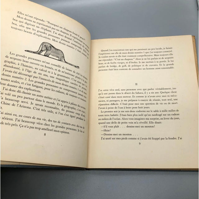 1943 Le Petit Prince Little Prince Hardcover Book French Edition Saint-Exupery For Sale In Providence - Image 6 of 10
