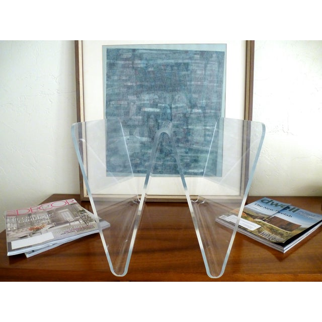 Lucite W Magazine Holder - Image 2 of 6