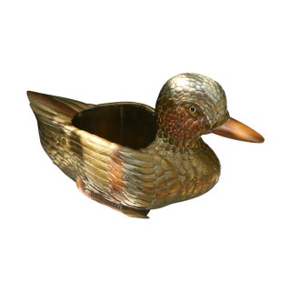 Sergio Bustamante Attributed Mixed Metal Duck For Sale