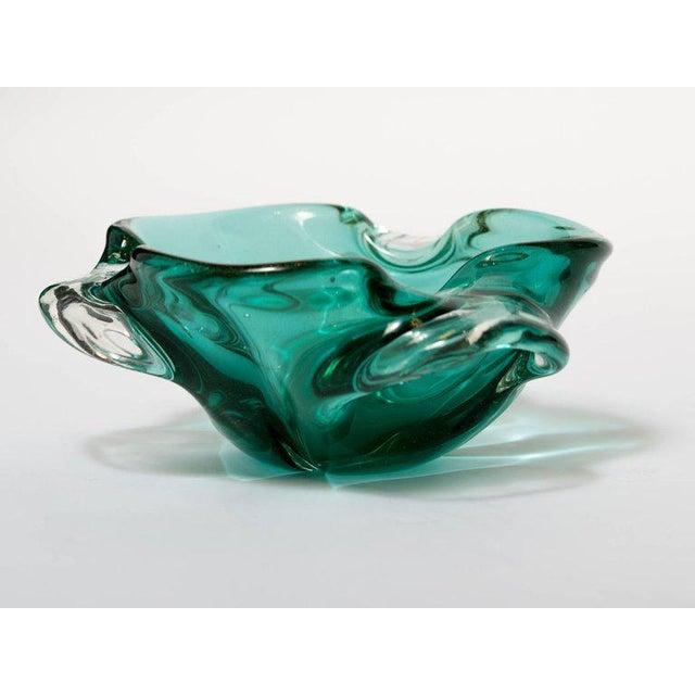 Green Seguso Mid-Century Organic Modern Murano Bowl For Sale - Image 8 of 9