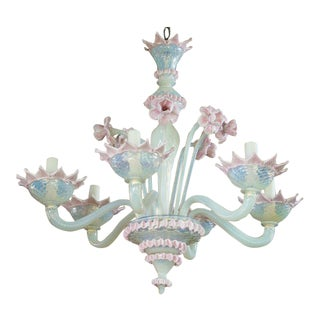 Vintage Hand-Blown Murano Chandelier For Sale