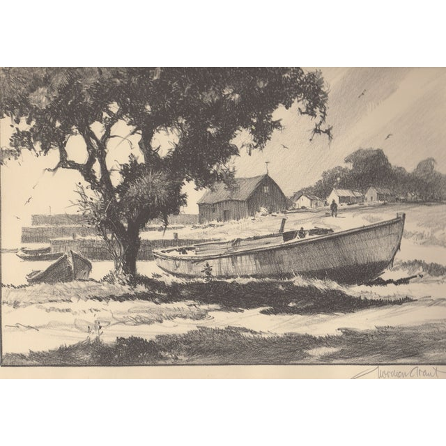 Old Boats Never Die Lithograph by Gordon Grant - Image 1 of 2