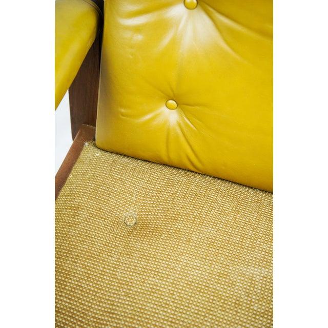 1970s Gunlocke Co. Yellow Swivel Office Chair - Image 8 of 10