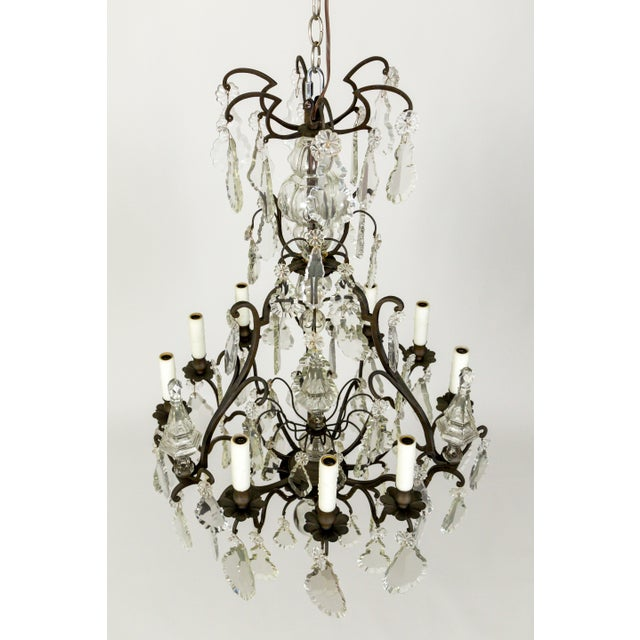 Parisian Second Empire Style Darkened Brass Chandeliers - a Pair For Sale In San Francisco - Image 6 of 13