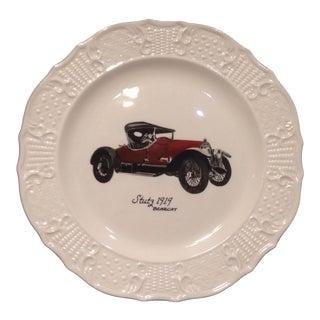Vintage Ed Decker Delano Studios Collectors Stutz 1919 Bearcat Car Automobile Plate For Sale