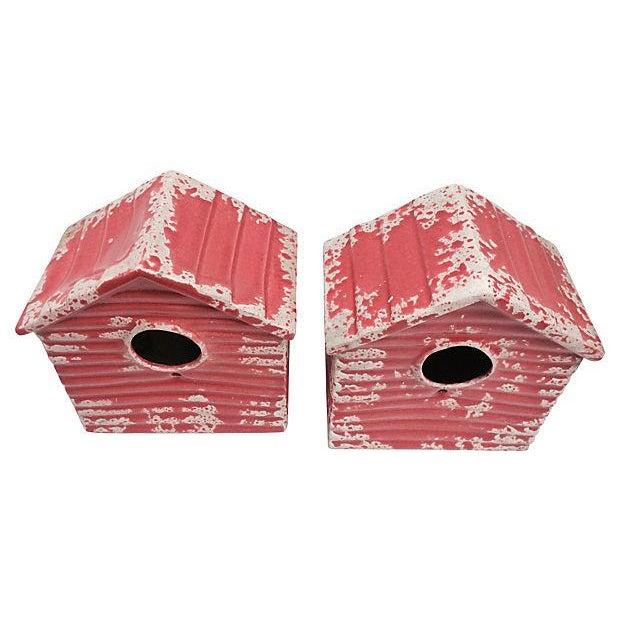 Portuguese Terracotta Birdhouses - A Pair - Image 2 of 3