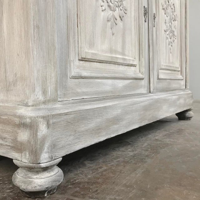 19th Century Country French Louis XVI Whitewashed Buffet For Sale - Image 9 of 13