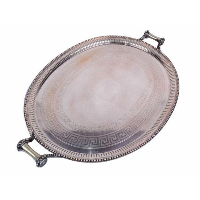 Sheffield James Dixon & Sons for Sheffield Silver-Plate Tray For Sale - Image 4 of 10