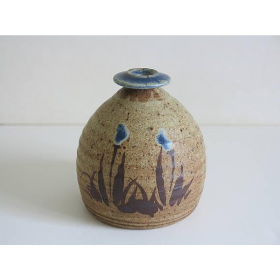 1970s Vintage Robert Fishman Stoneware Weed Pot For Sale In New York - Image 6 of 6
