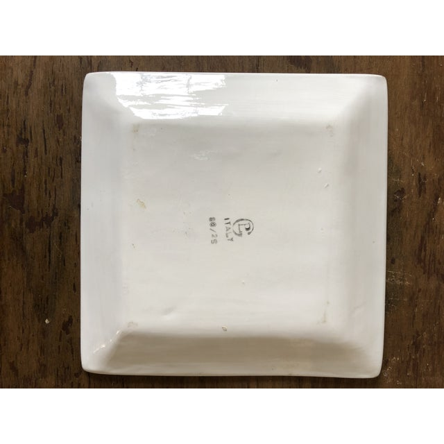 Mid Century Italian Postage Stamp Plate For Sale - Image 4 of 5