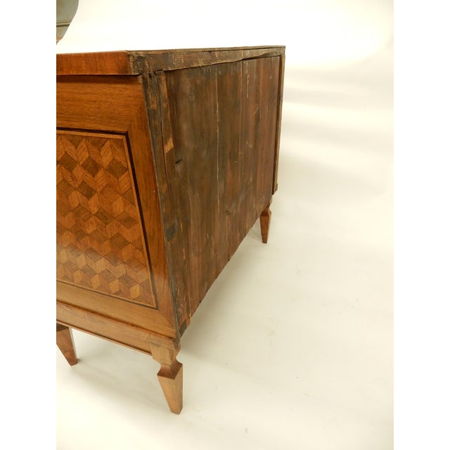 Walnut Italian 19th C Parquet Commode For Sale - Image 7 of 8