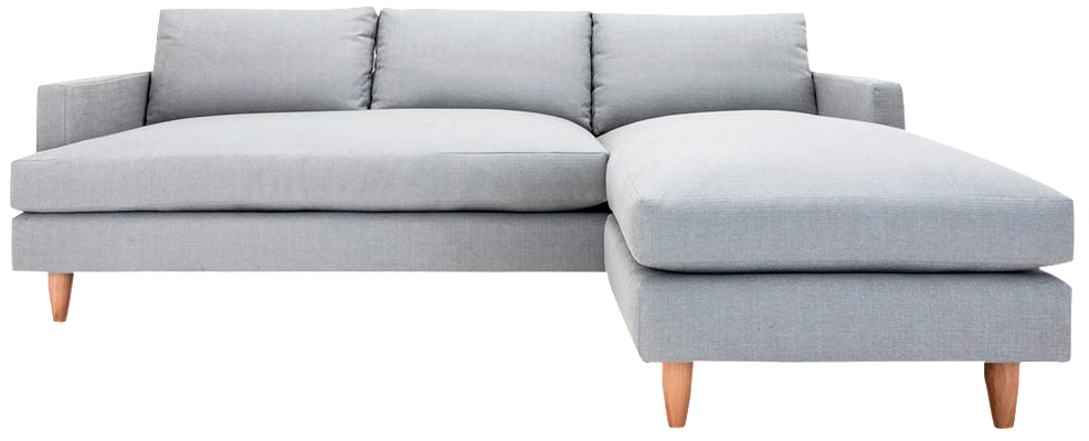 Clad Home Sectional Sofa With Reversible Chaise