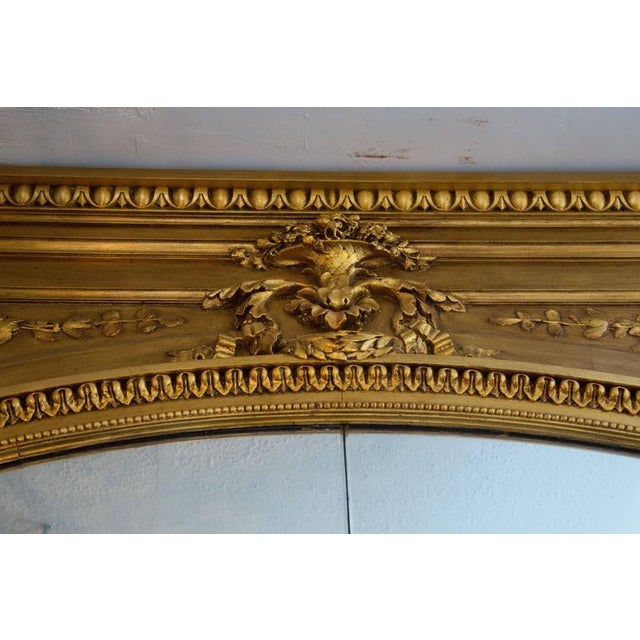 Louis XVI 19th Century Giltwood Palace Mirror For Sale - Image 3 of 7