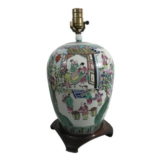 Chinese Famille Rose Jar Lamp For Sale