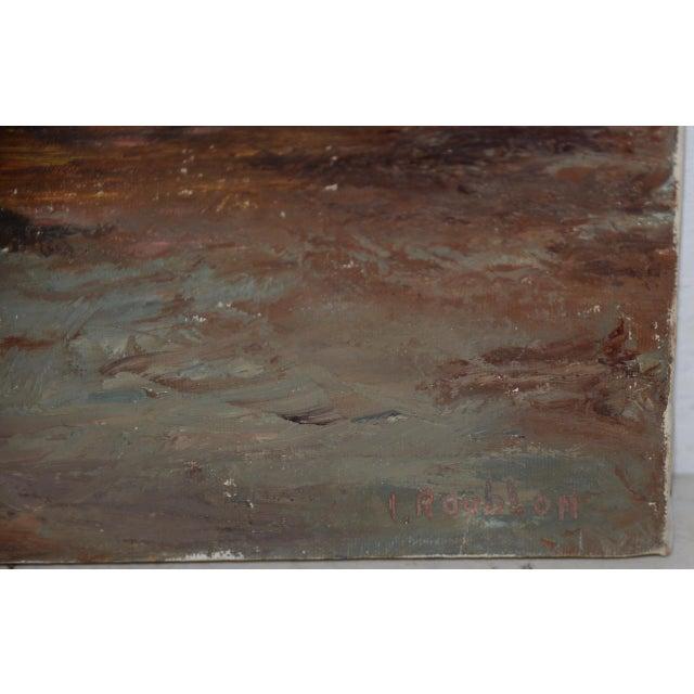 "Impressionist Irina Roudakoff Belotelkin (january 1, 1913 – January 21, 2009) ""coastal Sunset"" Oil Painting C.1960s For Sale - Image 3 of 8"