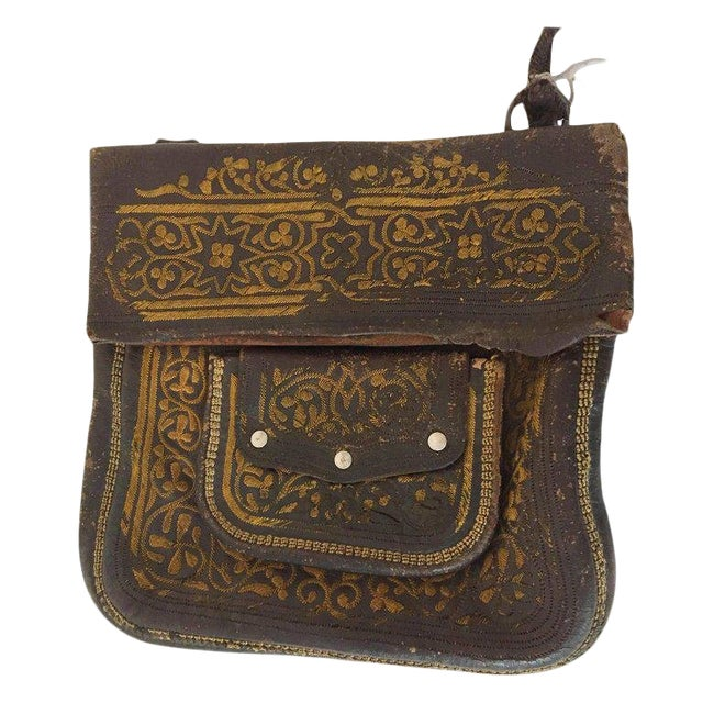 Leather Moroccan Berber Bag For Sale