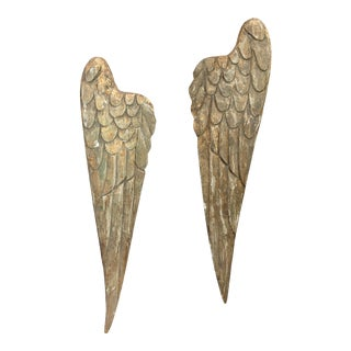 1960s Continental Carved and Gilded Wings - a Pair For Sale