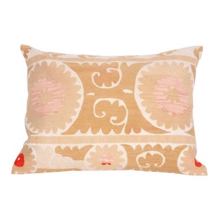 Vintage Embroidered Down Feather Pillow For Sale
