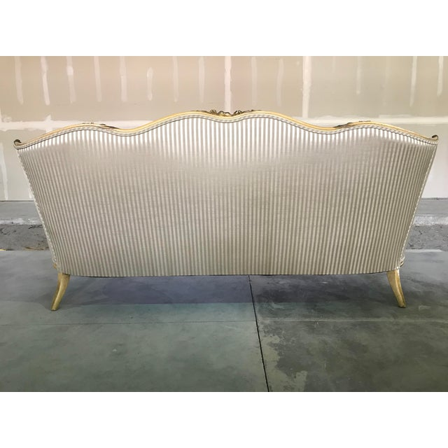 Early 20th Century Vintage Louis XV Style Sofa Cabriole Leg For Sale - Image 6 of 10