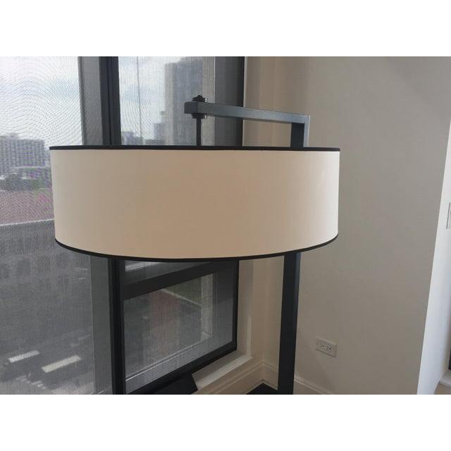 Contemporary Contemporary Metal Silk Shade Floor Lamp 2 Available For Sale - Image 3 of 11