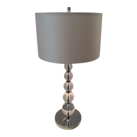 Contemporary Crystal Ball Table Lamp For Sale