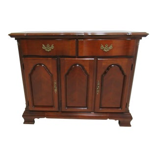 Lexington Chippendale Cherry Flip Top Server Bar Liqour Cabinet