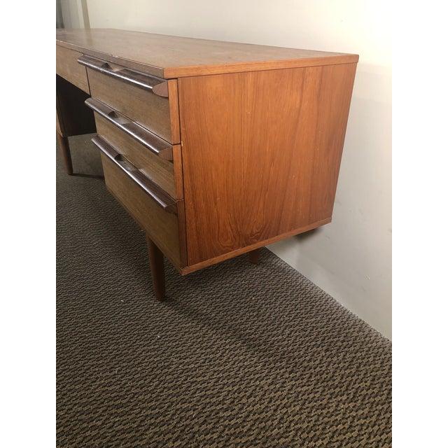 Mid Century Modern Teak Desk or Vanity For Sale In Atlanta - Image 6 of 13