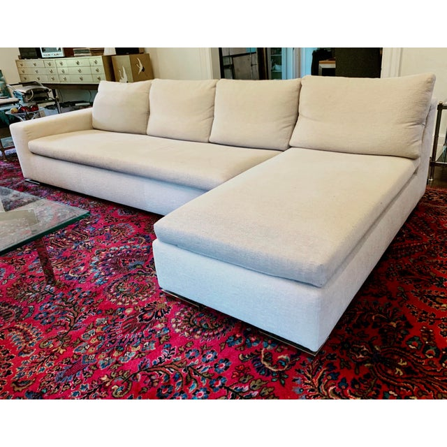 Italian Minotti Sectional Sofa With Chaise For Sale - Image 12 of 12