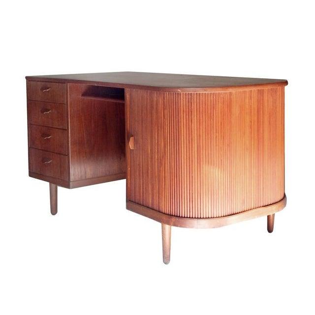 "Teak Perfect Scandinavian ""Mad-Men"" Desk For Sale - Image 7 of 10"