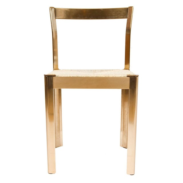 Italian Corded Brass Chairs- A Pair - Image 2 of 7