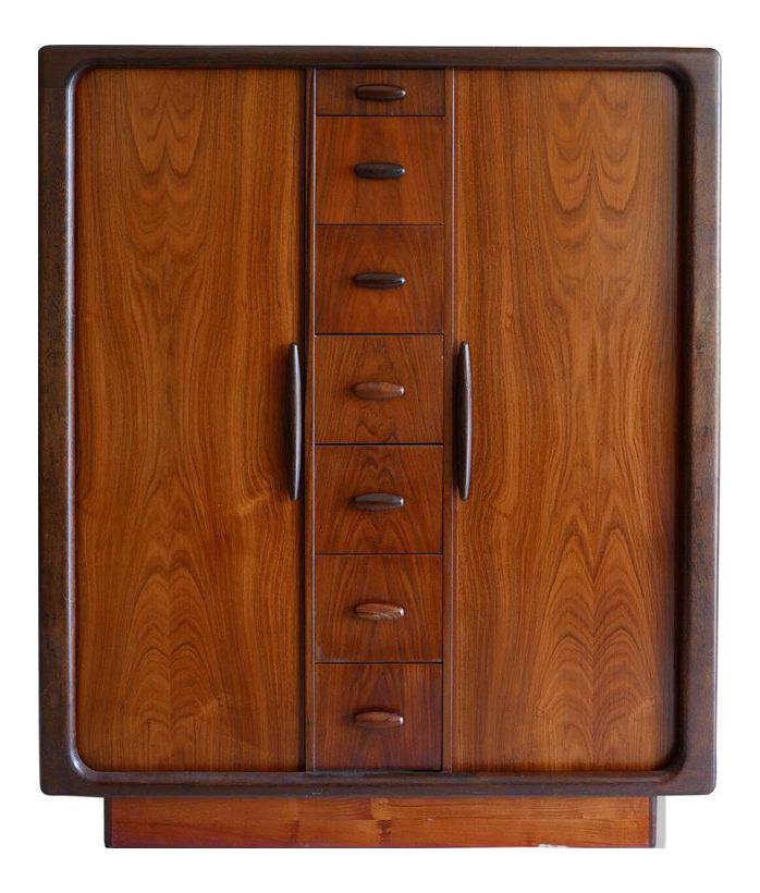 Dyrlund Highboy Hiboy Dresser of Rosewood from Denmark Tambor Doors circa 1970  sc 1 st  Chairish & Dyrlund Highboy Hiboy Dresser of Rosewood from Denmark Tambor Doors ...