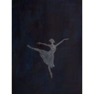 """""""Ballet Pose Shadow II"""" Contemporary Minimalist Figurative Mixed-Media Painting For Sale"""