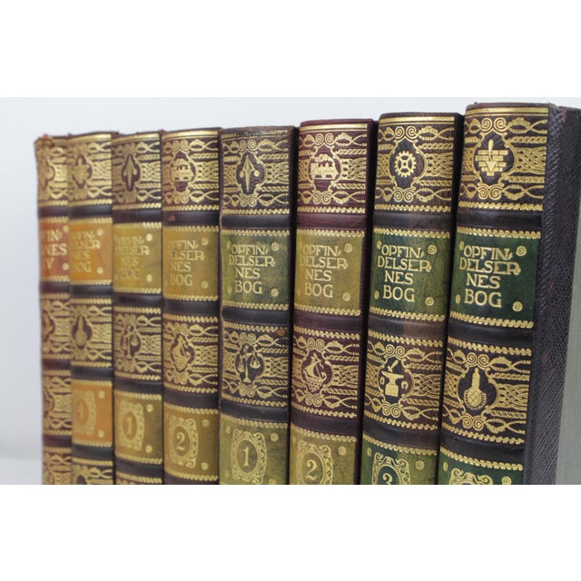 Art Deco Leather-Bound Books - Set of 8 - Image 4 of 4