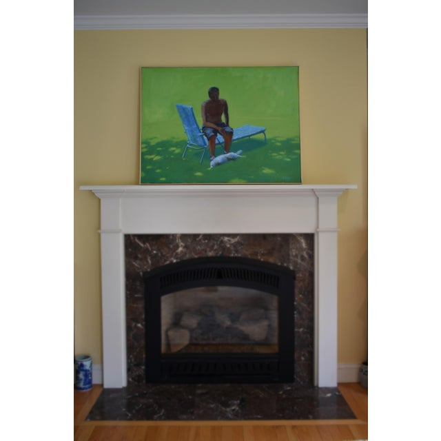 """""""Resting in the Shade"""", Stephen Remick Contemporary Painting For Sale - Image 10 of 13"""