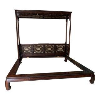 Vintage Chippendale Ming King Bedframe For Sale